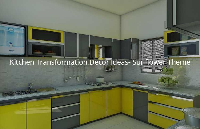 Kitchen Transformation Decor Ideas- Sunflower Theme